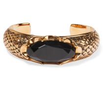 Brünierte Vergoldete Armspange Mit Kristall