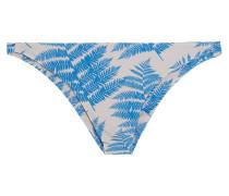 Miyako Bedrucktes Bikini-höschen - Azurblau
