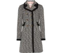 Doppelreihiger Mantel Aus Tweed -