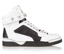 Tyson Sneakers Aus Weißem Und Schwarzem Leder