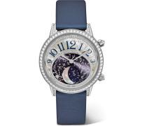 Rendez-vous Moon 36 Mm Uhr Aus  Und Perlmutt Mit Diamanten Und Satinarmband