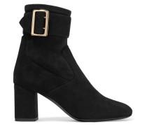 Britannia Ankle Boots Aus Veloursleder -