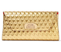 Vero Dodat Clutch Aus Geprägtem Metallic-leder - Gold