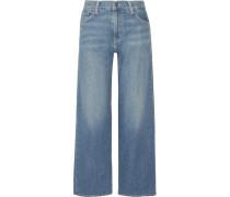Hoch Sitzende Jeans Mit Weitem Bein -