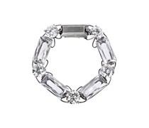 Armband aus oxidiertem Sterlingsilber mit Cubic Zirkonia-Steinen