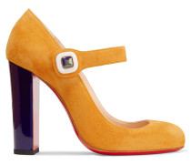 Bibaba Mary-jane-pumps Aus Veloursleder -