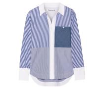 Keating Gestreiftes Hemd Aus Baumwollpopeline - Blau