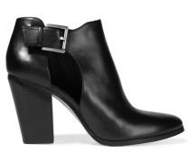 Adams Ankle Boots Aus Leder Mit Cut-outs - Schwarz
