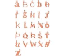 Alphabet Letter A-Z Buchstabenanhänger mit Roségoldauflage