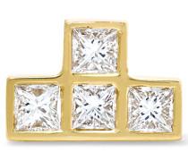Ohrring Aus 18 karat Gold Mit Diamanten