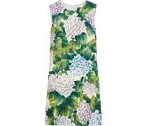 Minikleid Aus Cloqué Aus Einer Baumwollmischung Mit Floralem Print -