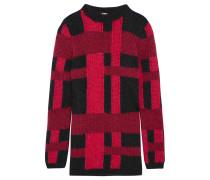 Pullover Aus Einer Mohair-seidenmischung - Rot