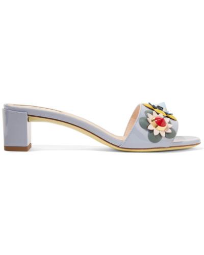 Verzierte Sandalen Aus Lackleder -