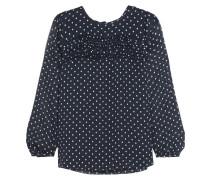 Bluse aus Seiden-Georgette mit Polka-Dots