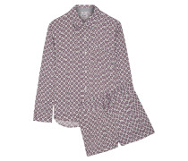 Pyjama Aus Bedrucktem Satin -