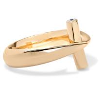Hammerhead Ring aus 18 Karat  mit Diamanten