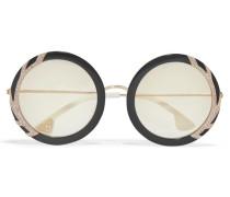 Beverly Sonnenbrille Mit Rundem Rahmen Aus Azetat Und Swarovski-kristallen -
