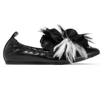 Verzierte Loafers Aus Glanzleder -