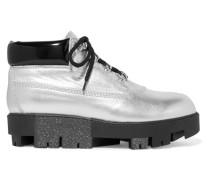 Tinnie Alu Ankle Boots Aus Strukturiertem Metallic-leder -