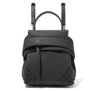 Wave Mini Rucksack Aus Strukturiertem Leder Mit Verzierungen -