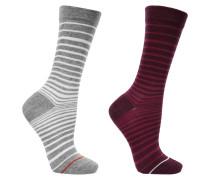 Set aus zwei Paar gestreifter Socken aus einer Baumwollmischung