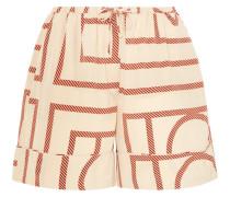 Lansallos Bedruckte Shorts aus Seidensatin -