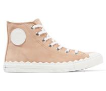 High-top-sneakers Aus Veloursleder Mit Lederbesatz -