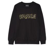 Anna Verziertes Sweatshirt Aus Baumwolle - Schwarz