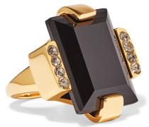 Goldfarbener Ring Mit Kristallen