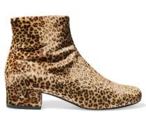 Babies Ankle Boots Aus Samt Mit Leopardenprint - Leoparden-Print