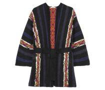 Habibi Paillettenverzierter Cardigan Aus Einer Wollmischung Mit Gürtel -