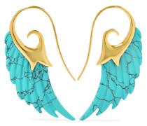 Wing Ohrringe Aus 18 Karat  Mit Türkisen