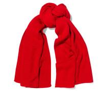 Schal Aus Gerippter Wolle - Rot