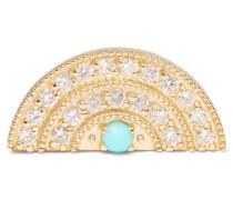 Ohrring Aus 18 Karat  Mit Diamanten Und Türkis
