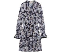 Captain Minikleid Aus Chiffon Mit Floralem Print - Lavendel