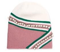 Verzierte Beanie Aus Wolle - Pink