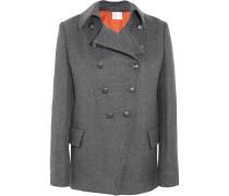 Doppelreihiger Mantel Aus Twill - Grau