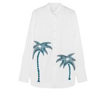 Besticktes Hemd Aus Baumwolle - Weiß