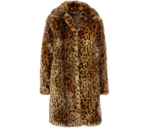Mantel Aus Faux Fur Mit Leopardenprint -