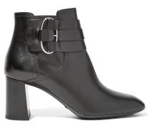 Ankle Boots Aus Leder - Schwarz