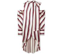 Gestreifte Oversized-bluse aus Glänzendem Twill