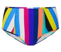 Hoch Sitzendes Bikini-höschen mit Streifen -