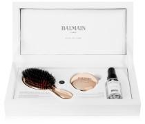 Rose -plated Boar Bristle Brush & Mirror Set – Bürsten- und Spiegelset mit Roséauflage
