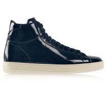 High-top-sneakers Aus Lackleder - Mitternachtsblau