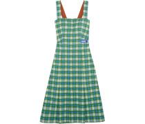 Kleid Aus Kariertem Stretch-strick -