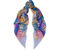 Bedruckter Schal Aus Einer Seidenmischung -