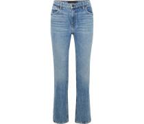 Cult Verkürzte, Hoch Sitzende Jeans Mit Geradem Bein -
