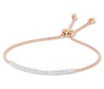 Stellar Pave Mini Bar Armband Mit Roségold-vermeil Und Diamanten