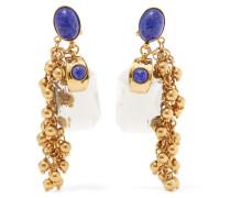 Vergoldete Ohrringe mit Verzierungen