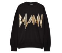 Bedrucktes Oversized-sweatshirt Aus Baumwoll-jersey -